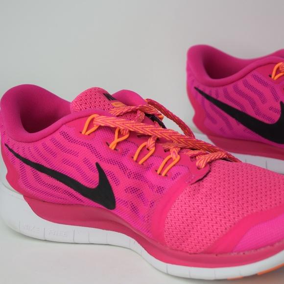 758991fdd5d Nike Free 5.0 Womens Running Trainers 724383-600
